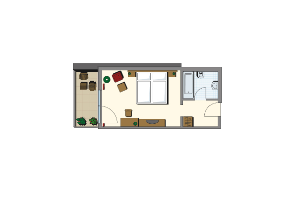 Doppelzimmer Kategorie III