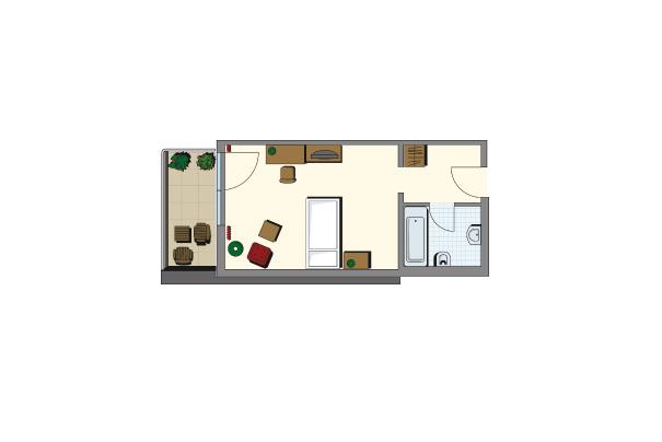 Einzelzimmer Kategorie II