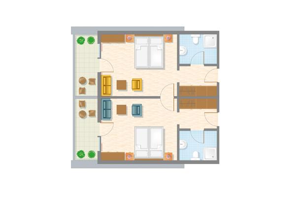 4-Bett-Familienzimmer