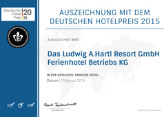 Deutscher Hotelpreis 2015 - Kinderhotel